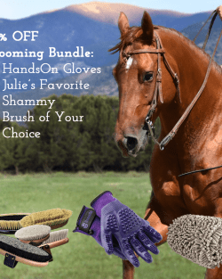 10% Off Grooming Bundle: HandsOn Grooming Gloves, Julie's Favorite Shammy, Brush of Your Choice