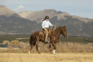 Eddie as a 5 year old in the Rocky Mountain Ranch Saddle